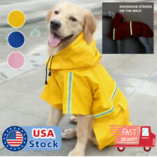 Dog Raincoat Waterproof Outdoor pet Doggie Rain Coat Rainwear Clothes