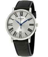Authentic Tissot Carson Premium Black Leather Quartz Men's Watch T1224101603300