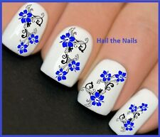 Nails Nail Wraps Art Water Transfers Decals Wraps Blue Orchid Flower Y124