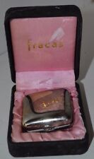 Vintage Fracas Perfume Compact Silver In Rouch Robert Piguet 2 Grams Box