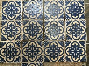 "Pilkington Carter Tiles X 13 Vintage Reclaimed 6"" Sq"