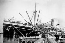 RANGATIRA as Australian Troopship HMAT A22 WW1 Brisbane modern Digital Postcard