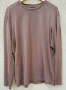 REI CO-OP Men's XL Pullover Long Sleeve Crew Neck Base Layer Stretch Brown