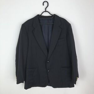 "Burberry Suit Jacket Men's Size 44"" Chest Pure New Wool Smart Blazer"