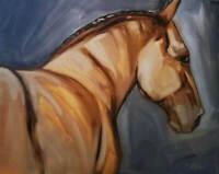 Original Horse Painting Leni Tarleton