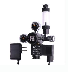 Aquarium Daul Outlet Mini Gauge DC Solenoid CO2 Regulator With Check Valve