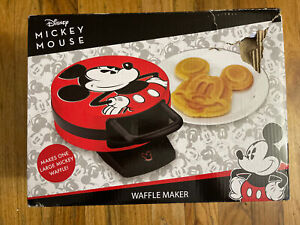 Disney DCM-12 Mickey Mouse Red Waffle Maker-Never Used!! OPEN BOX