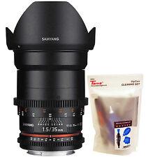 Samyang 35mm T1.5 Cine VDSLR II Version 2 Wide Angle Lens for Canon EOS EF DSLR
