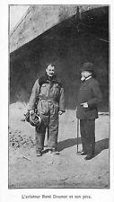 AVIATEUR PILOTE RENE DOUMER & SON PERE GUERRE WAR 14/18 ILLUSTRATION 1916