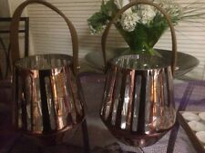 Beautiful Lot Of 2 Large Lanterns & Complete Box Of Candles