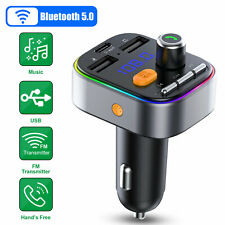 Wireless Bluetooth 5.0 FM Transmitter Car USB Charger Adapter Radio MP3 Player