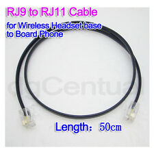 IPC Cable RJ9 4P4C to RJ11 6P4C for Wireless Headset Base to Board Phone