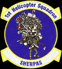 USAF 1st HELICOPTER SQUADRON - SHERPAS - Andrews AFB, MD - ORIGINAL VEL PATCH