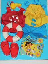 NEW FISHER PRICE ~DORA THE EXPLORER~DOLL  DRESS & STYLE  LIFEGUARD W/O BOX