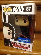 FUNKO POP! Star Wars Kylo Ren Unmasked #87 Walmart Exclusive Vinyl Figure NEW
