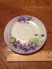 Vintage Tea Cup Saucer Marked Gold Edging Hand Painted
