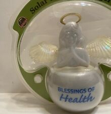 Dancing white blessing Of Health Flap Wings Solar Toy Dashboard Decorative Gift