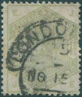 Great Britain 1883 SG196 1/- dull green QV EJJE FU