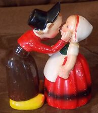 Vintage Kissing Dutch Couple Salt & Pepper Shakers Some Paint Loss See Photos