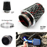 Universal Air Filter Box Carbon Fiber Cold Feed Induction Air Intake System Cone