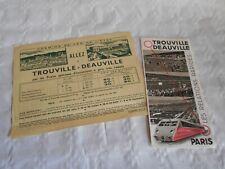 Vintage travel brochures Etat French railways 1930s trouville deauville railcar