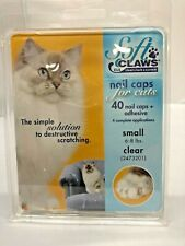 Soft Claws Nail Caps for Cats Kittens Paws Small, Clear