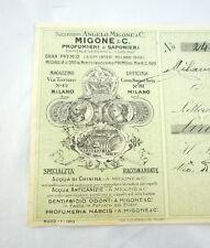 MIGONE COSMESI MILANO 1912 PROFUMO ANTICO SAPONE COSMETICI BELLEZZA CURA CORPO