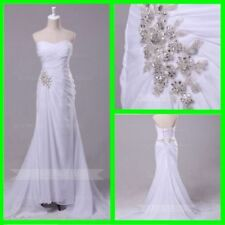 Beading Beach Regular Wedding Dresses