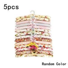 5x Anti-slip Hook Sponge Cotton Satin Padded Clothes Hangers Rack Dress