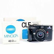 Minolta CLE Rangefinder Near mint With Minolta M Rokkor 40mm f2 lens, and box's
