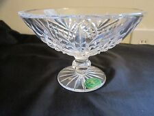 """Heritage Irish Crystal 1937-101S Cathedral 6"""" Compote Scalloped  NEW IN BOX"""