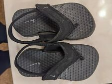 Black Nike Toddler Flip Flop Sandals With Back Strap, Size 7C