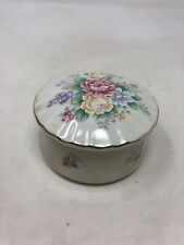 Vintage Music Box With Flowers On Top Fine Porcelain By Heritage House