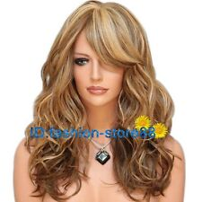 Long Western Womens Wig Natural Hair Wave Curly Blonde Wigs