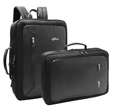 Slim Laptop Backpack College Convertible Bag Briefcase Lightweight Strong Black