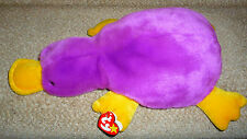 New Retired Ty Beanie Buddies Collection Plush Patti Platypus with Tags 1999