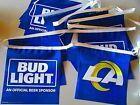 New 22' Long Bud Light LA Rams Football Beer String Banner Vinyl Double Sided