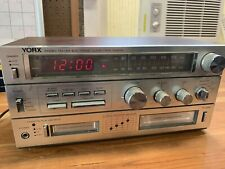Vintage Yorx Stereo Tape 8 Track Player Partially Tested Working R5300