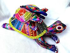 TURTLE Alebrije With 2 Turtles on Shell Handrafted by Bernarda Rios Oaxaca Mexic