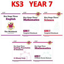More details for ks3 year 7 maths english science 5 books bundle with answer cgp
