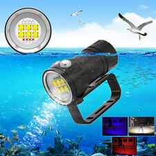 14LED Scuba Flashlight Torch Underwater Photographying Dive Light White Red Blue