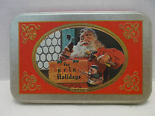 Coca Cola Nostalgia #Y5223 Double Deck Santa Playing Cards With Embosse Tin 1998