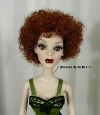 Wig for Evangeline or Parnilla  Ghastly. size 6/7 .. Annie Wig .. Flame Red!