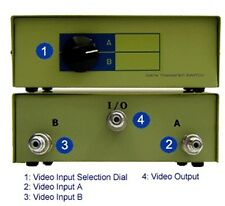 2 In 1 Out Analog Rca Bnc Video Manual Switcher