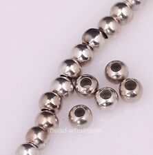 Sell 200pcs Tone Smooth Seamless Copper charm Spacer beads 3mm 3color for choose