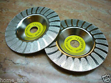"100mm 4 inch 4"" THK Diamond coated grinding grind disc round wheel Grit 100"