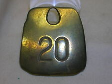 "Vintage Cow Tag Bronze 20 Hasco New KY. 2 1/4"" X 2 3/8"" Number Tag"