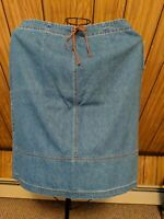 St. Johns Bay Women's Denim Jean Skirt, Sz 16 NWT
