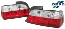 92-98 BMW E36 E-36 Crystal Red Clear Tail Lights 2D
