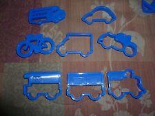 Farberware Classic Cookie Cutters - Motorcycle, Bike,Train,School Bus,Car,Truck